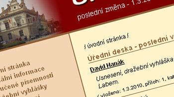 Úřední deska města Poděbrad